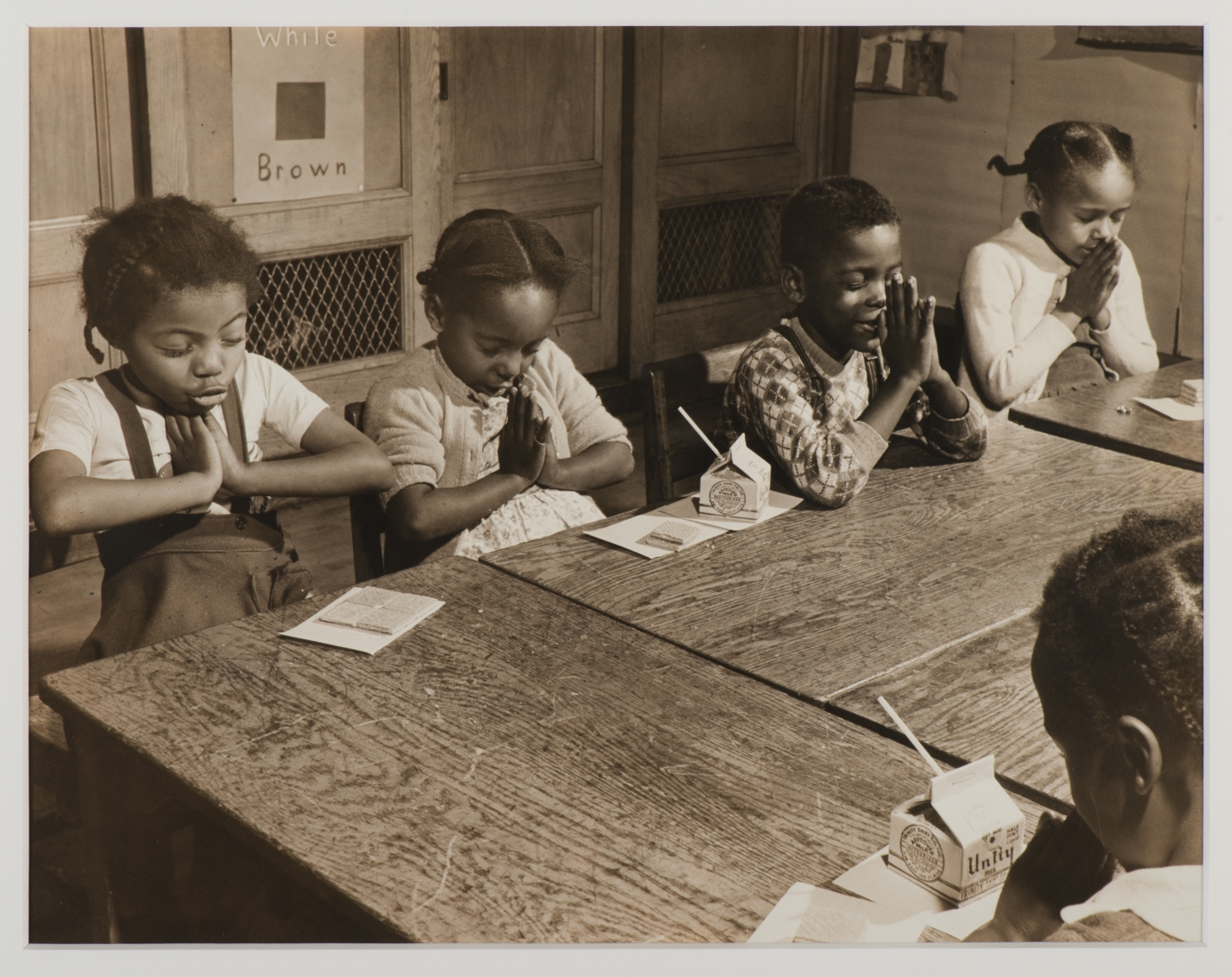 Morris Engel, Harlem Children Praying in School, c. 1940