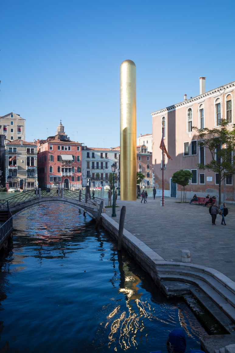 James Lee Byars, The Golden Tower, Campo San Vio, Venice, 2017, Installation Image 5