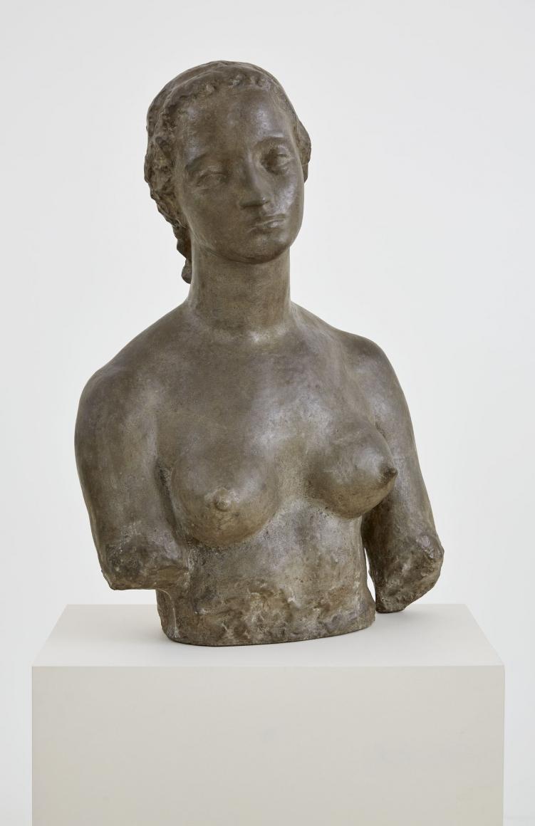 """Wilhelm Lehmbruck, """"Frauenbüste (Büste Frau L.)"""