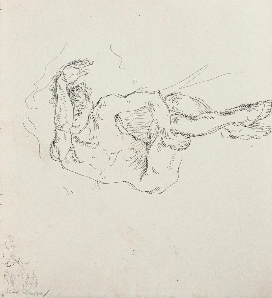 """Reclining Male Nude (Arm Raised)"", ca. 1930-1939"