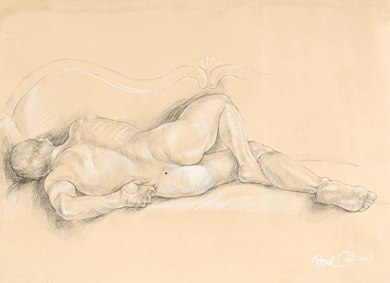 """""""Study for 'Male Nude #NM5'"""", ca. 1965"""