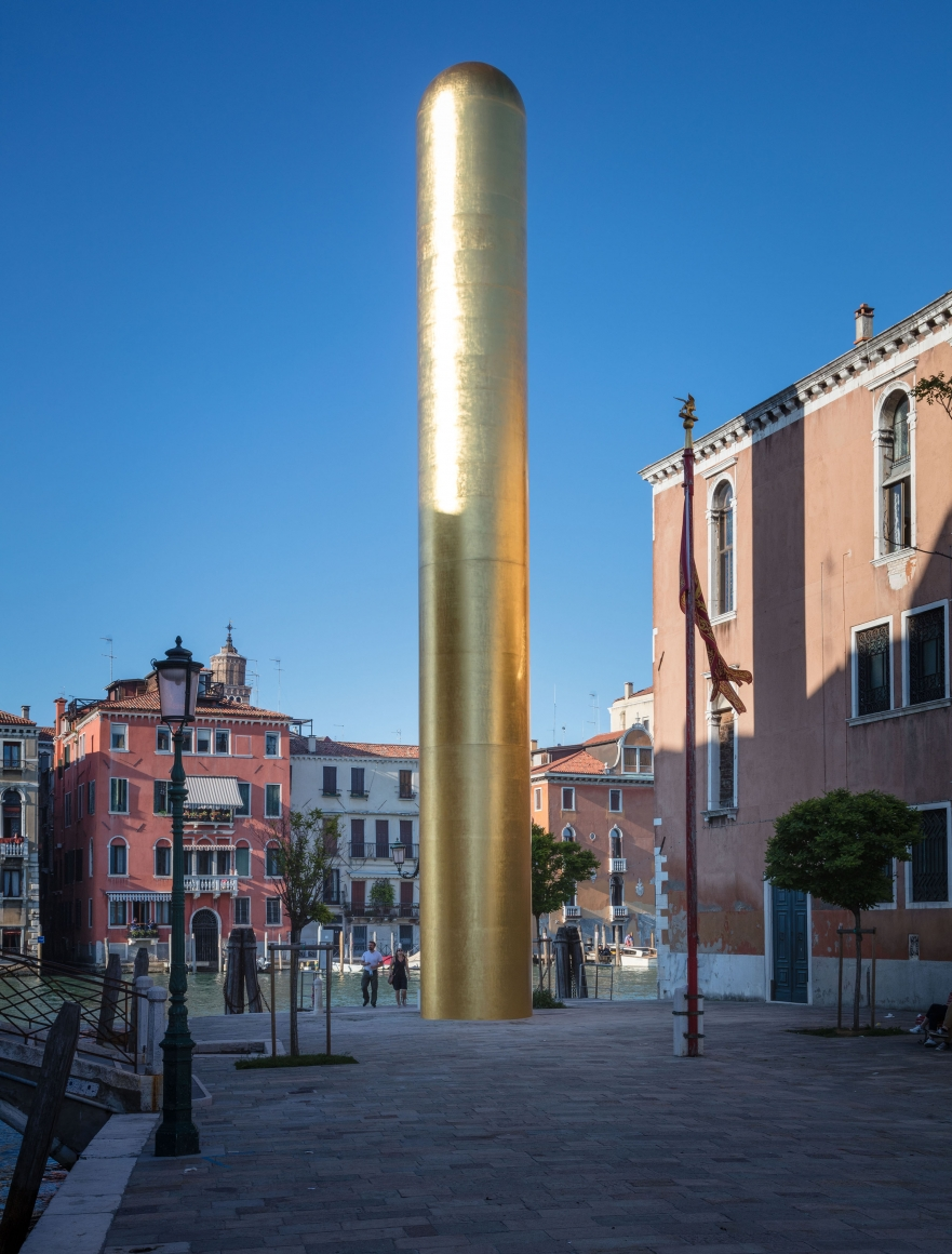 James Lee Byars, The Golden Tower, Campo San Vio, Venice, 2017, Installation Image 7