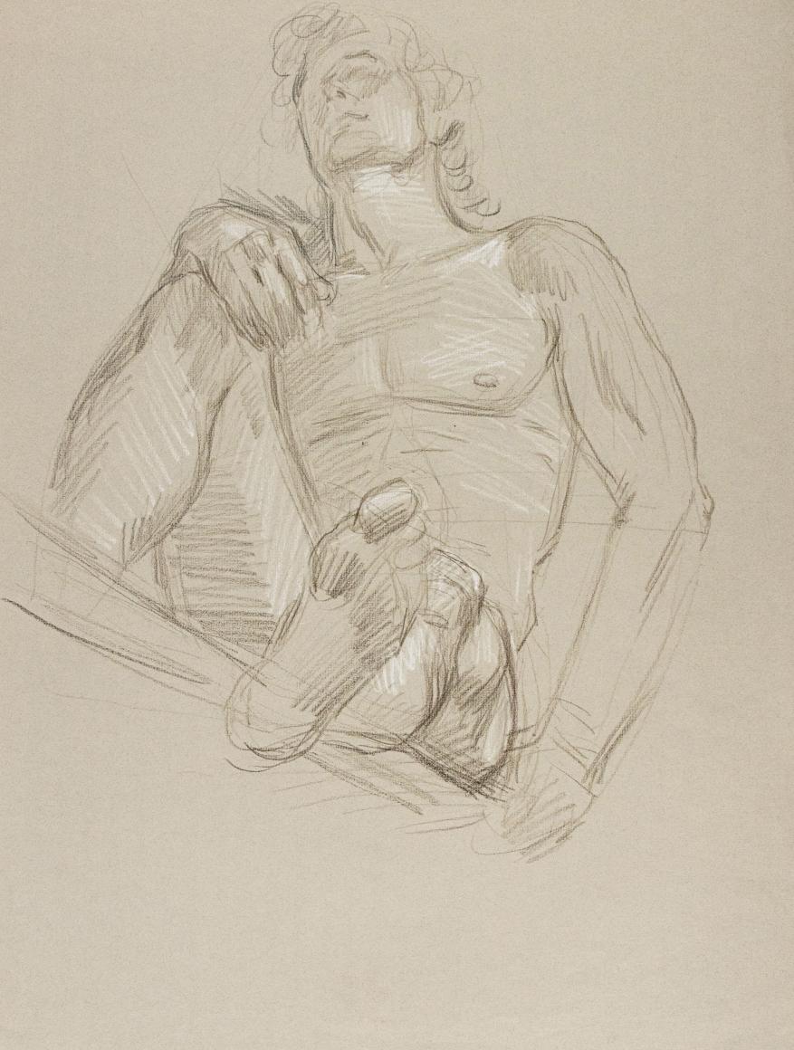 """""""Male Nude"""", ca. 1980-1989"""