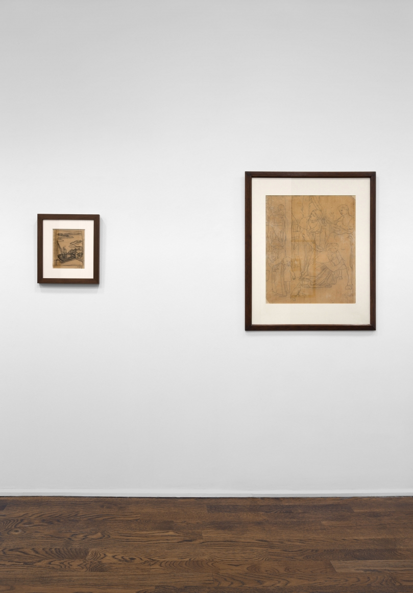 PIERRE PUVIS DE CHAVANNES, Works on Paper and Paintings, New York, 2018, Installation Image 6
