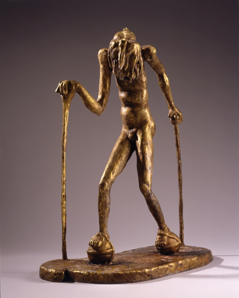 """""""Gertrude"""", 2001 Fire-gilded bronze"""