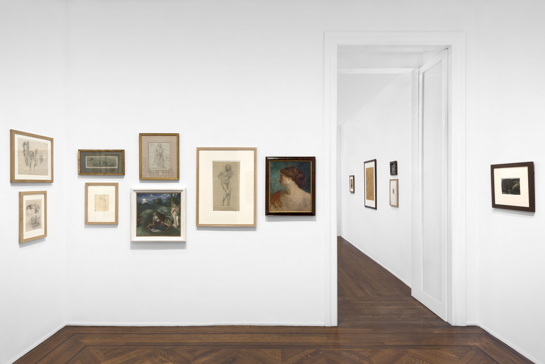 PIERRE PUVIS DE CHAVANNES, Works on Paper and Paintings, New York, 2018, Installation Image 9