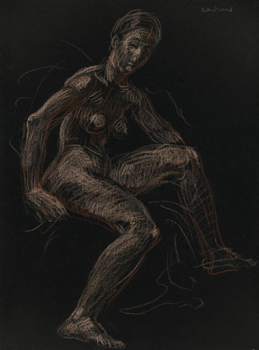 """""""Seated Female Nude"""", ca. 1969-1970"""