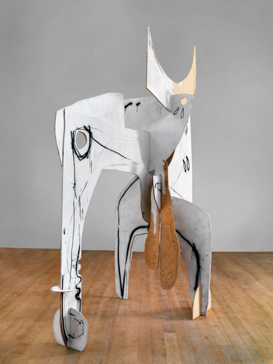 """Phantom"", 2010 Painted wood"