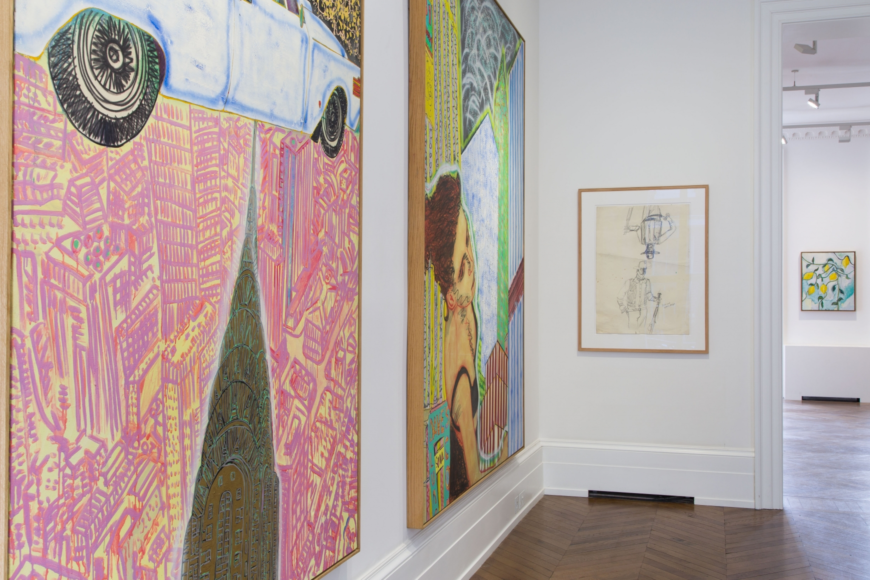 Peter Doig, Early Works, London, 2014, Installation Image 2