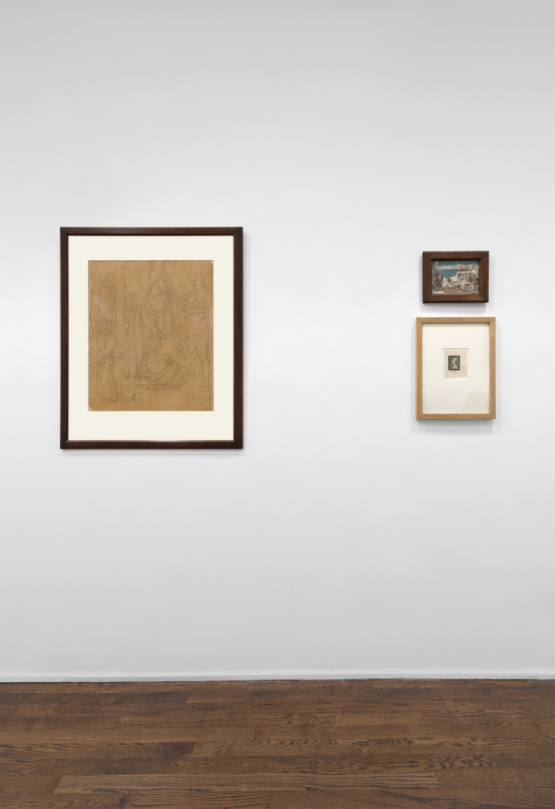 PIERRE PUVIS DE CHAVANNES, Works on Paper and Paintings, New York, 2018, Installation Image 7