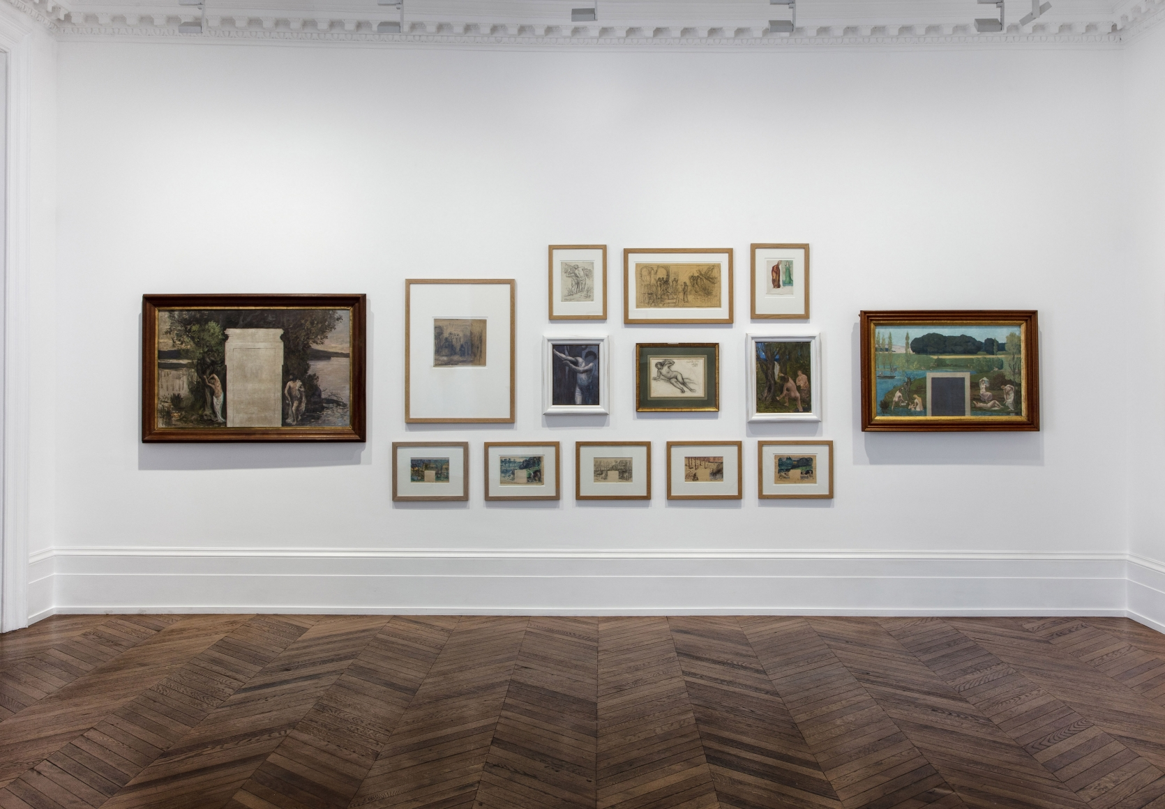 PIERRE PUVIS DE CHAVANNES, Works on Paper and Paintings, London, 2018, Installation Image 11