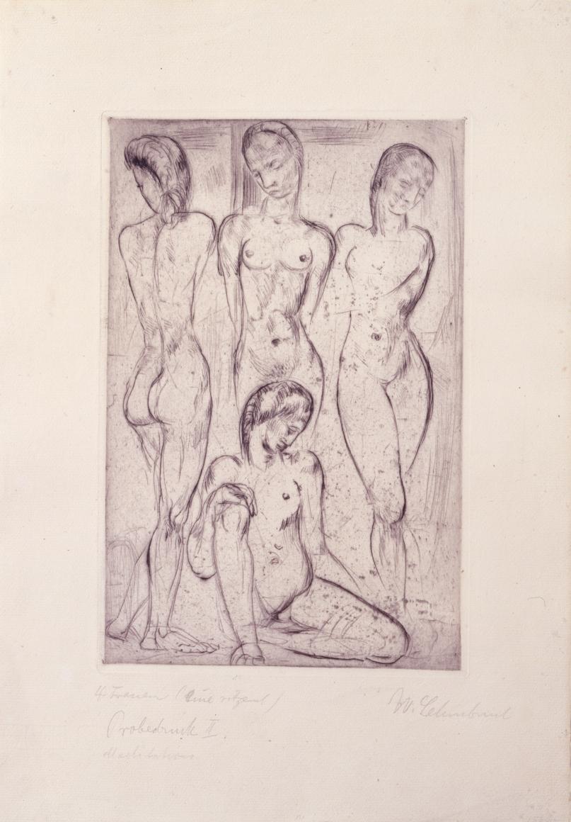 """""""Vier Frauen (drei stehend, eine sitzend)"""", 1913"""