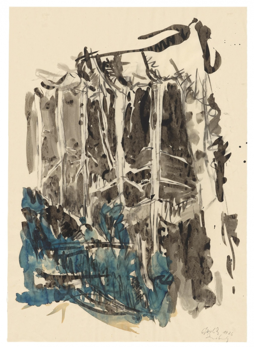 """""""Untitled"""", 1976 Watercolor on paper"""