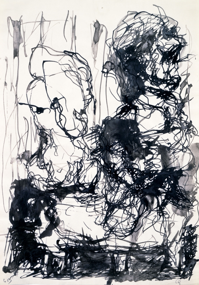 """""""P.D."""""""", 1962 India ink on paper"""