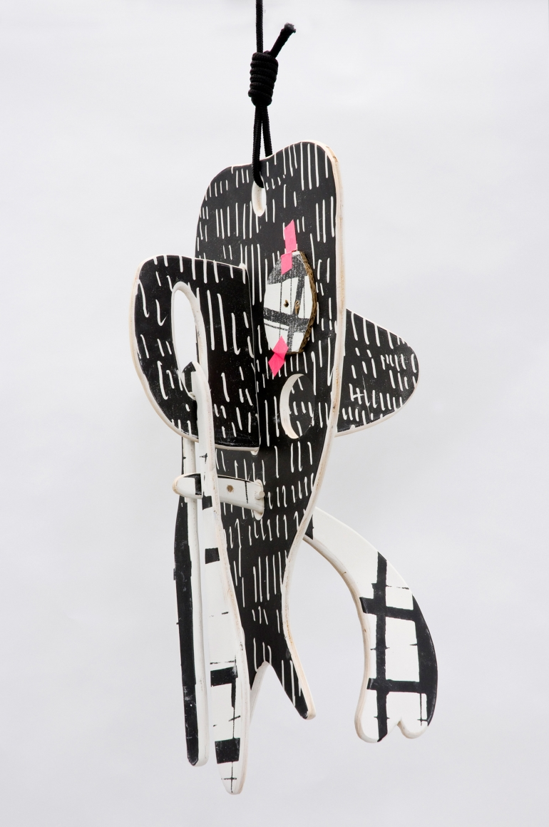 """""""Untitled"""", 2010 Painted wood, rope"""