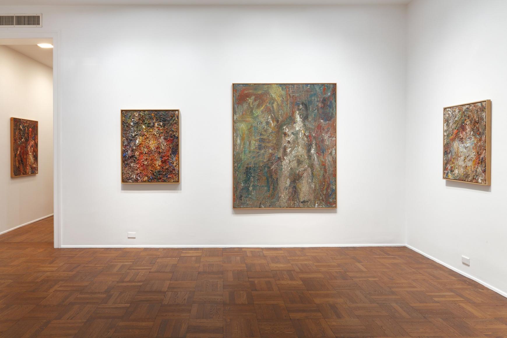 EUGÈNE LEROY, Nudes, New York, 2012, Installation Image 2