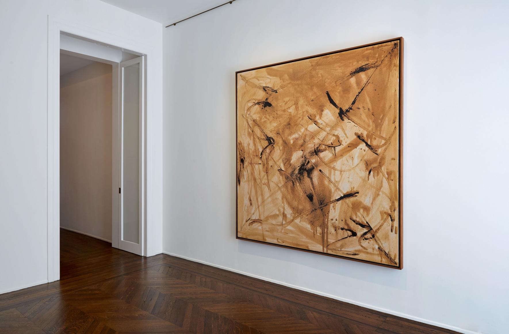 Sigmar Polke, Silver Paintings, New York, 2015, Installation Image 5