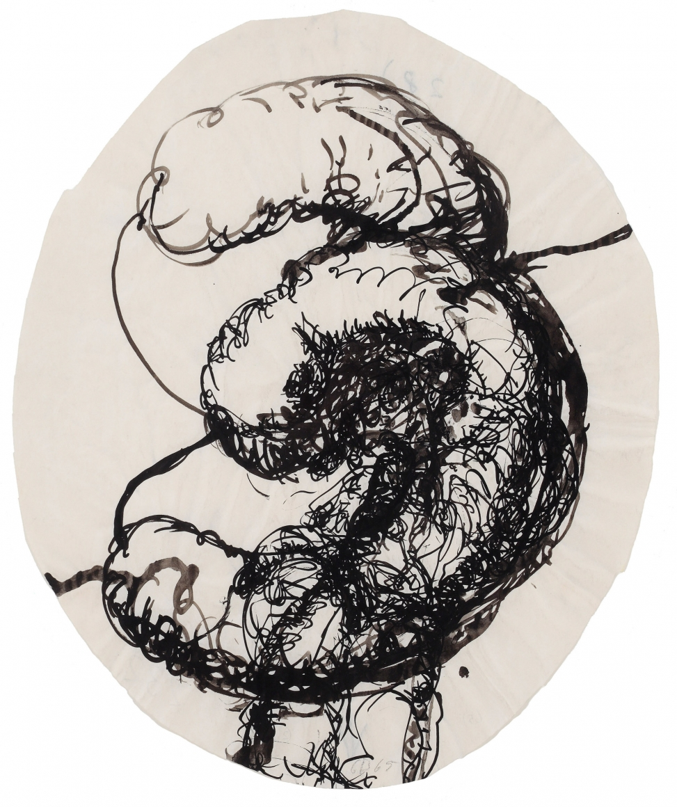 """""""Threesome"""", 1965 Ink on paper"""