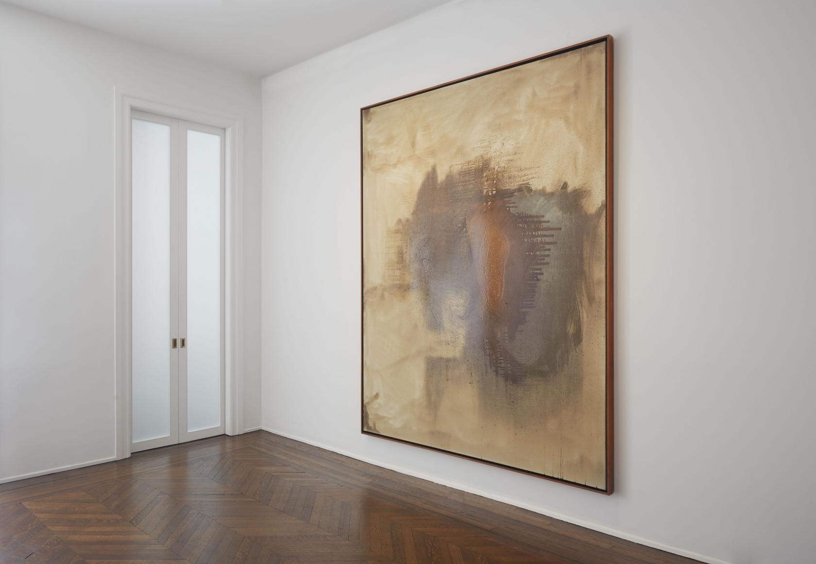 Sigmar Polke, Silver Paintings, New York, 2015, Installation Image 6