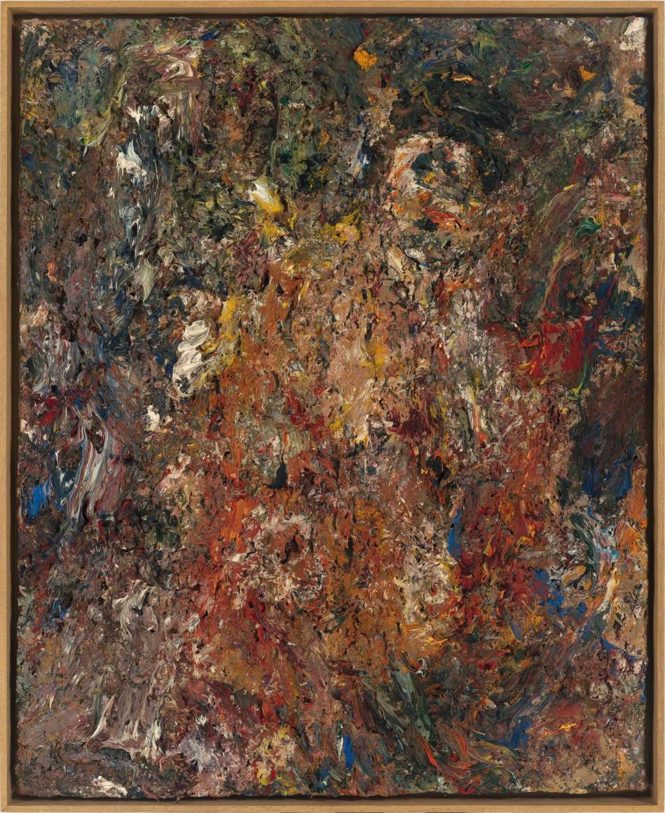 """Eugène Leroy, """"Nu en fête (Festive Nude)"""", 1996"""