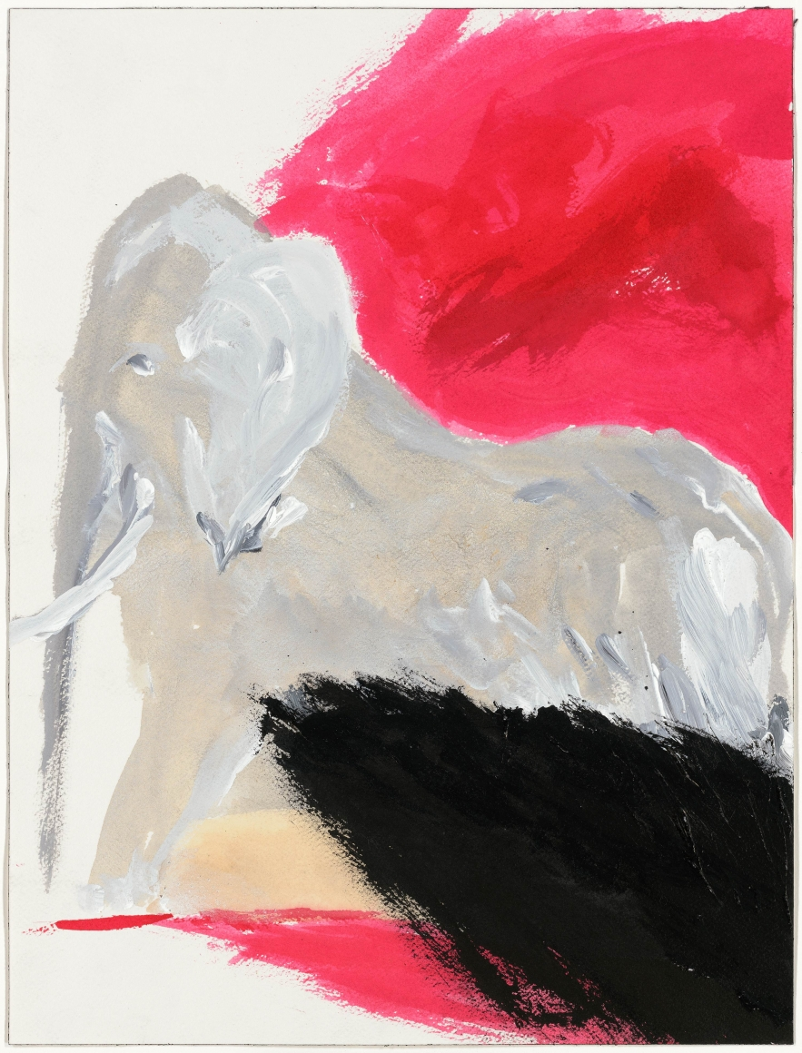 """""""Untitled"""", 1986 India ink, gouache, watercolor on paper"""