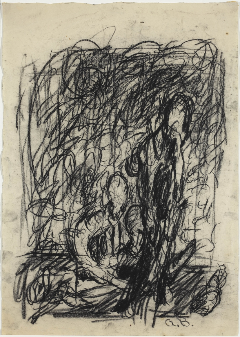 """""""Untitled"""""""", 1962 Charcoal on paper"""