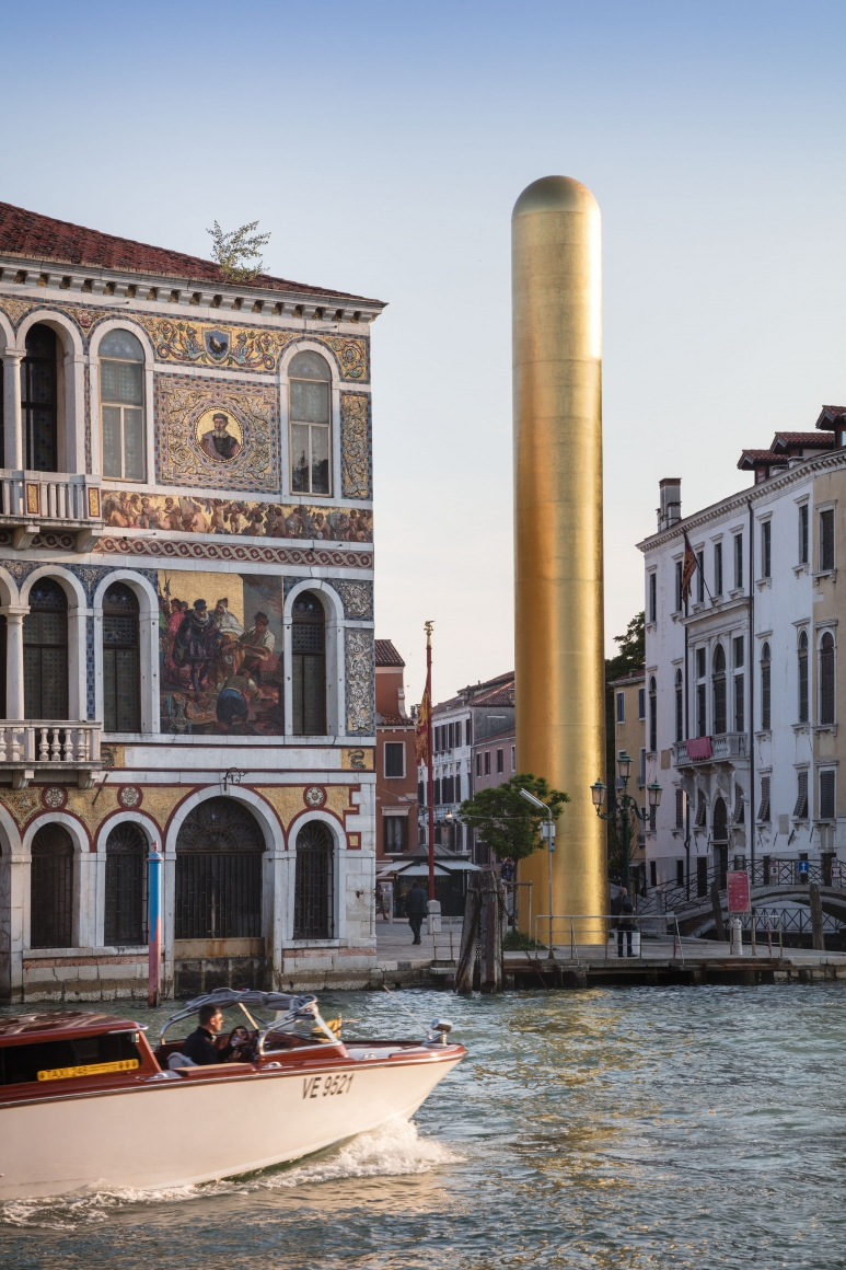 James Lee Byars, The Golden Tower, Campo San Vio, Venice, 2017, Installation Image 10