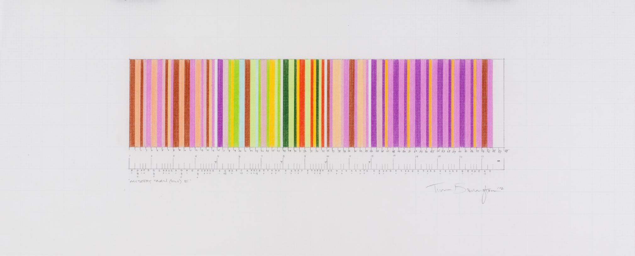 Mystery Train (solo) E, 2002, pencil on graph paper