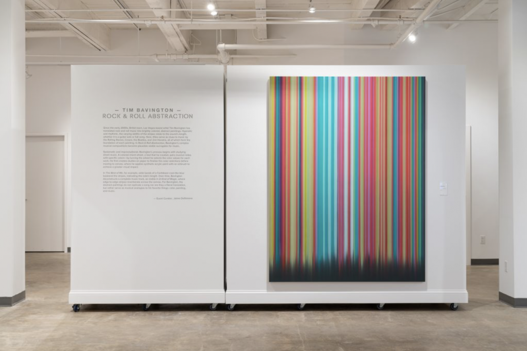 Tim Bavington: Rock & Roll Abstraction, installation view. Photography by Kyle Dubay.