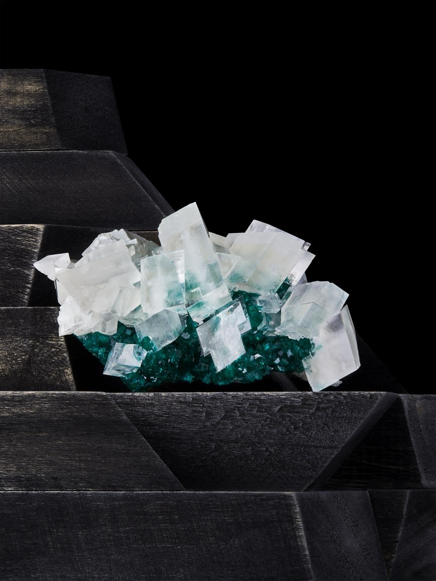Contrast Exhibition - Calcite + Dioptase