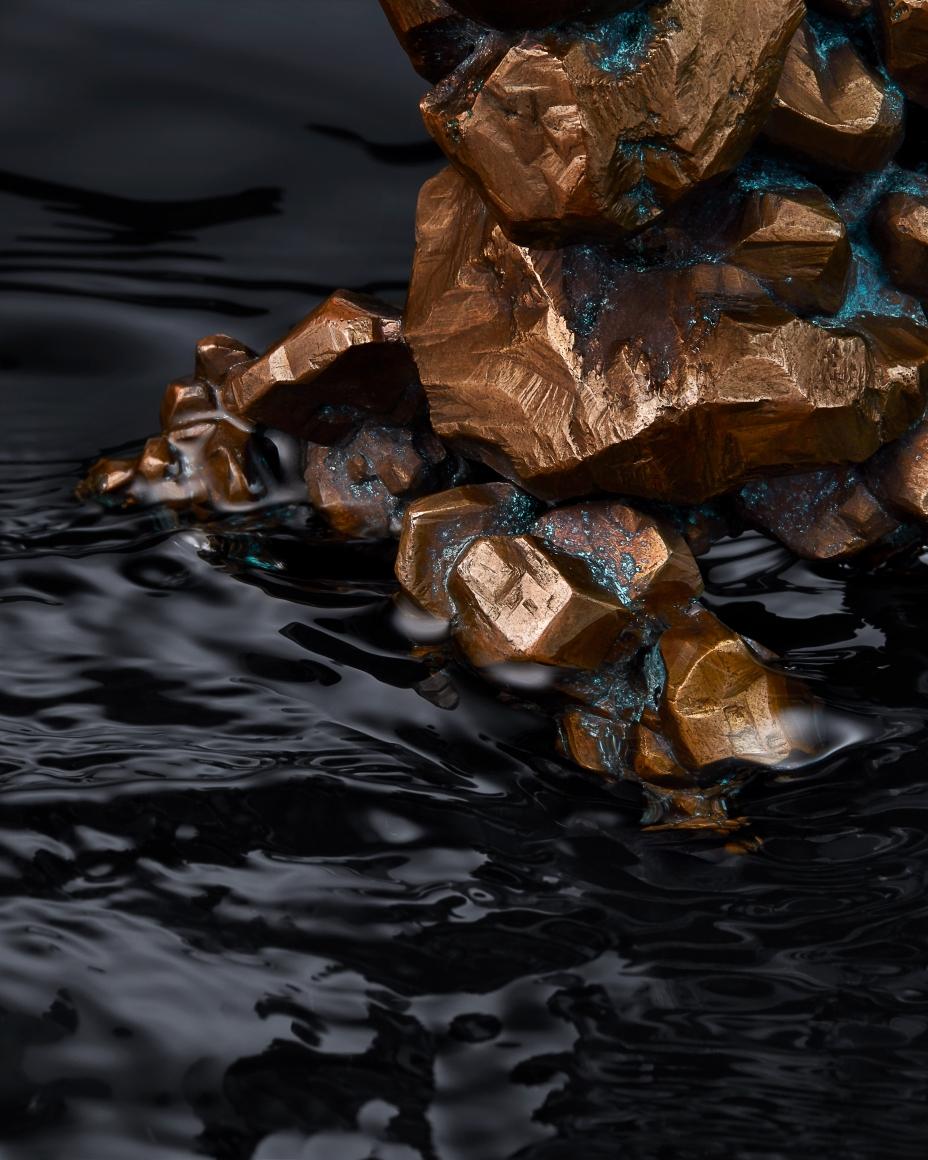Copper detail in water
