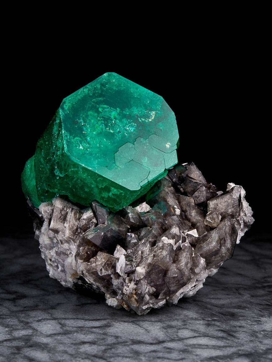 "Emerald on Calcite, ""The Emperor"""