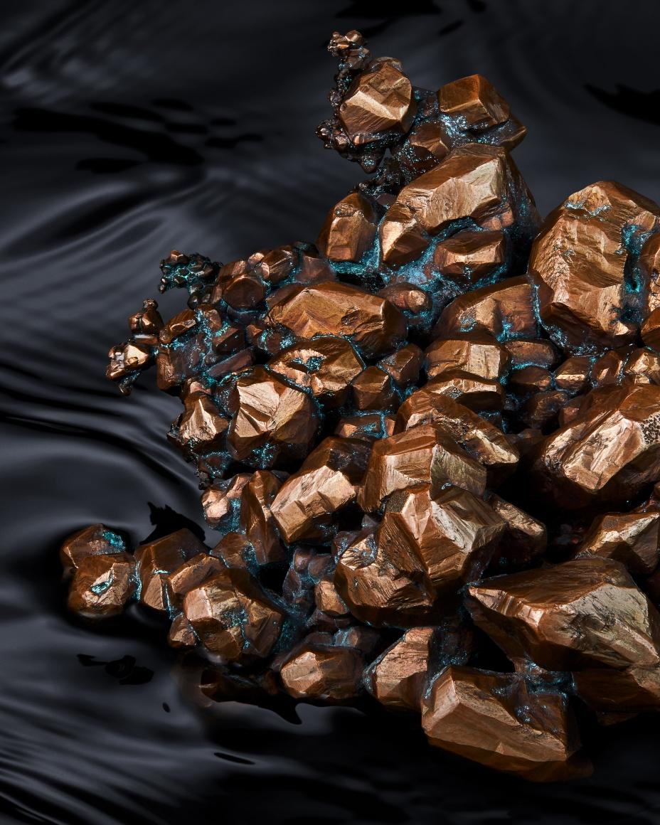 Copper detail in water 2