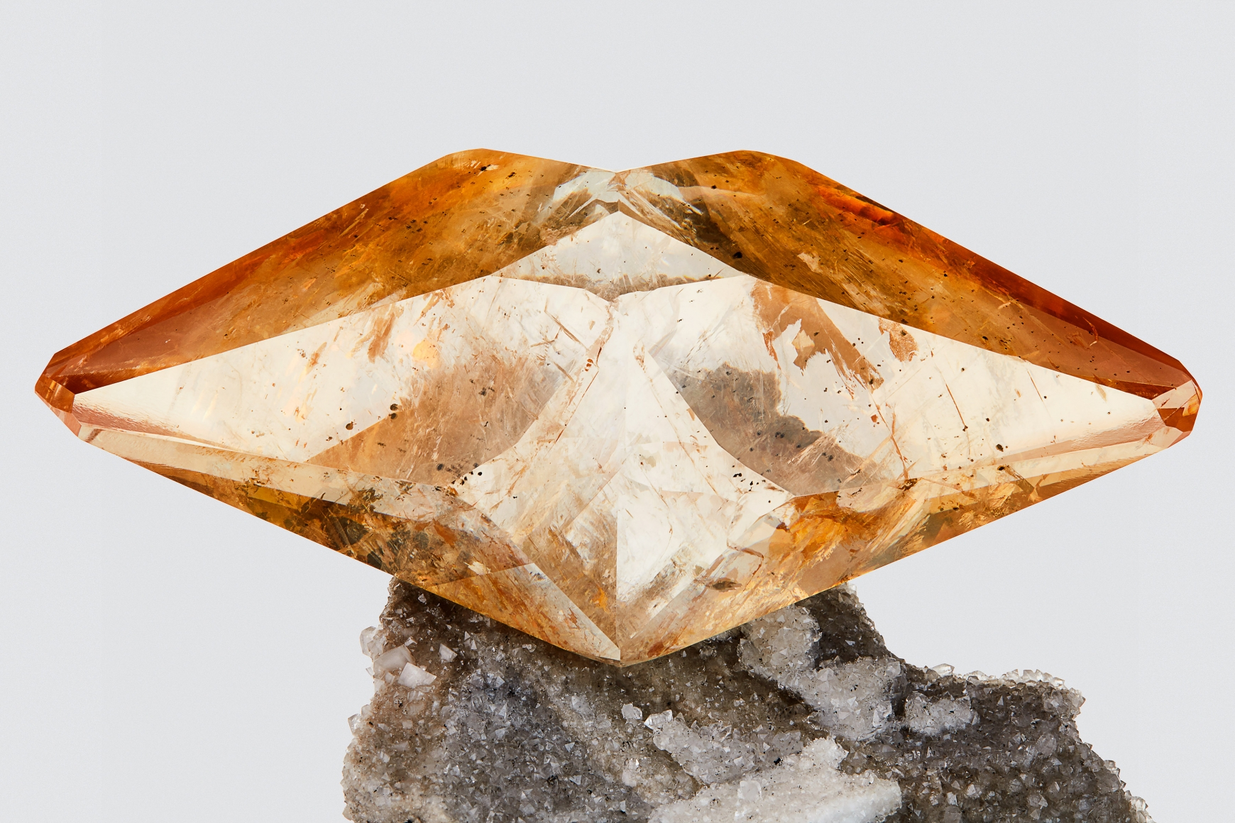 Calcite detail on white