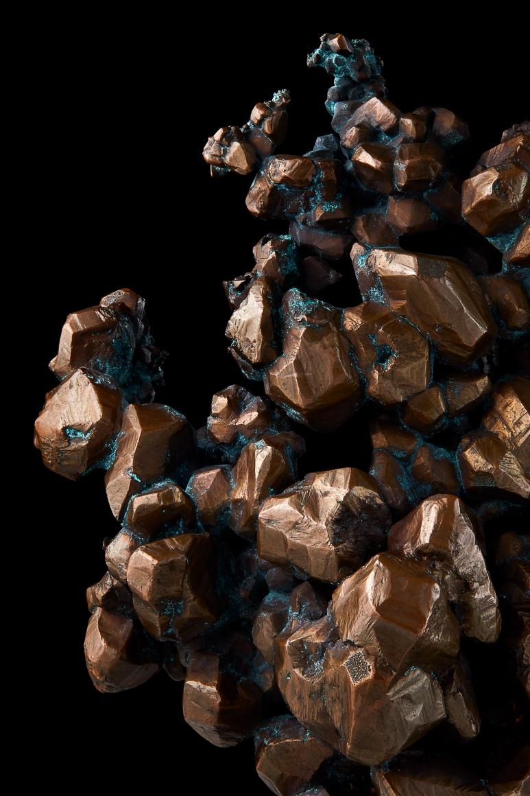 Copper detail on black