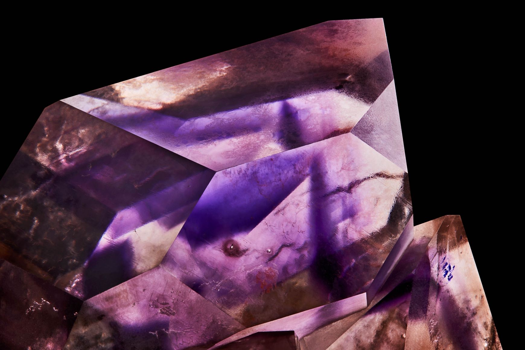 Amethyst on Quartz