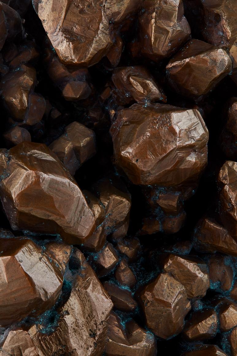 Copper texture detail