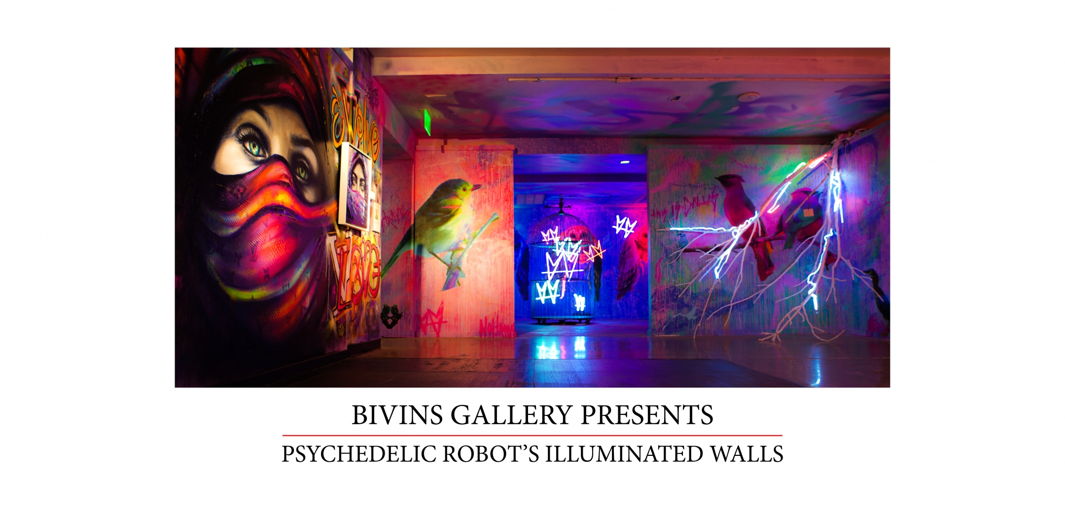 Psychedelic Robot's Illuminated Walls