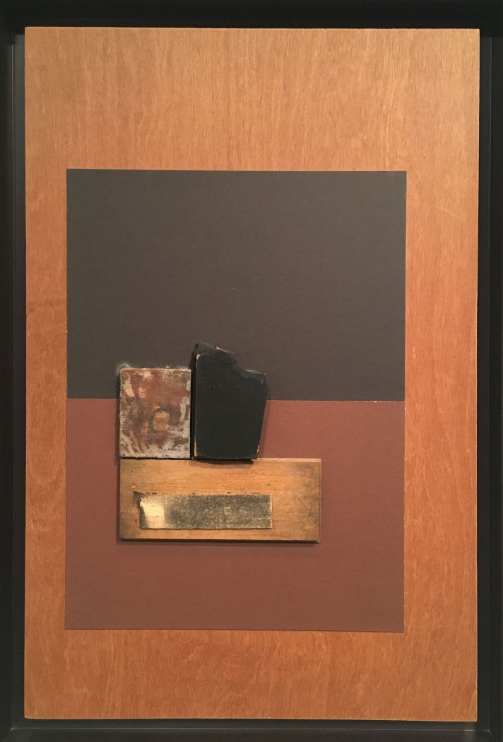 Louise Nevelson Untitled, 1975 cardboard and wood collage on board object: 30 x 20 inches frame: 32 3/8 x 22 7/16 inches