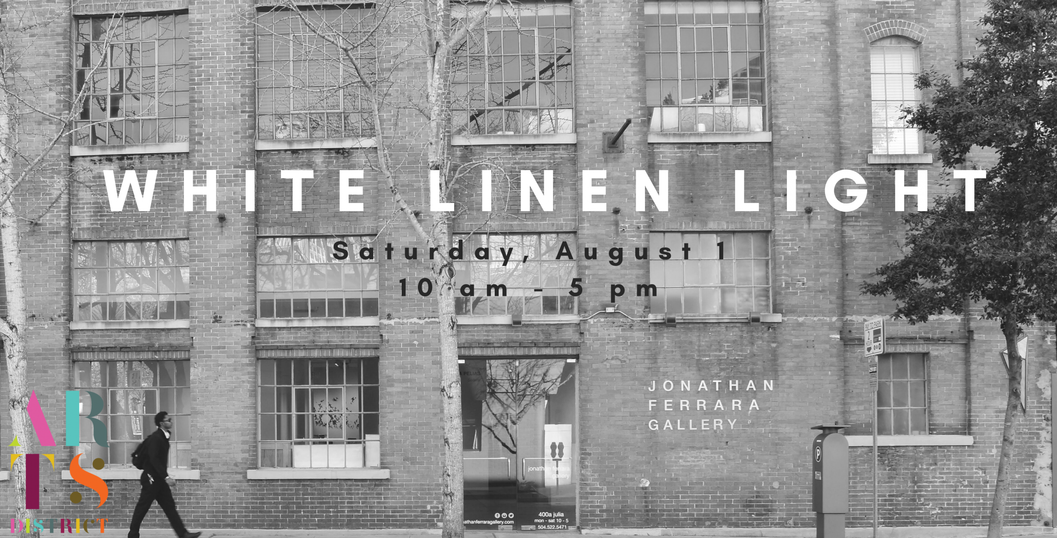 White Linen Nightcan't go on as usual, due to COVID-19 community safety restrictions, so we have decided to hold a daytimeart walk in its stead on 1 August from 10 am - 5 pm to allow for maximum social distancing and art appreciation - we're calling this eventWHITE LINEN LIGHT!,