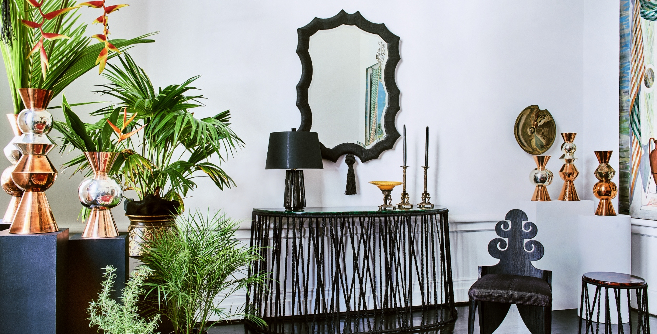 A vignette from Speaking in Tongues: Furniture and Accessories by Laura Kirar