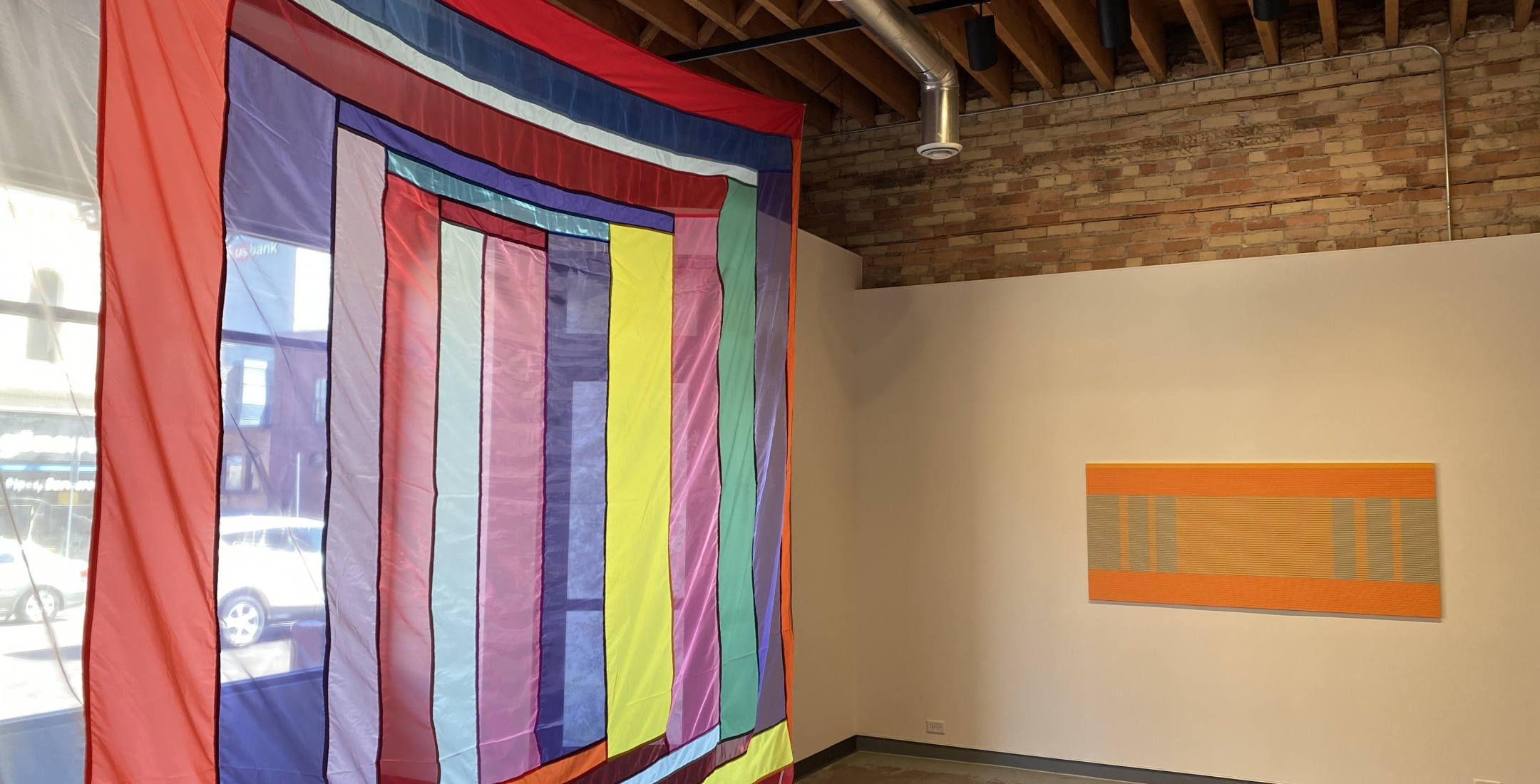 A Warm Reset v.2 - installation view (Rachel Hayes (left), Matthew Kluber (right)