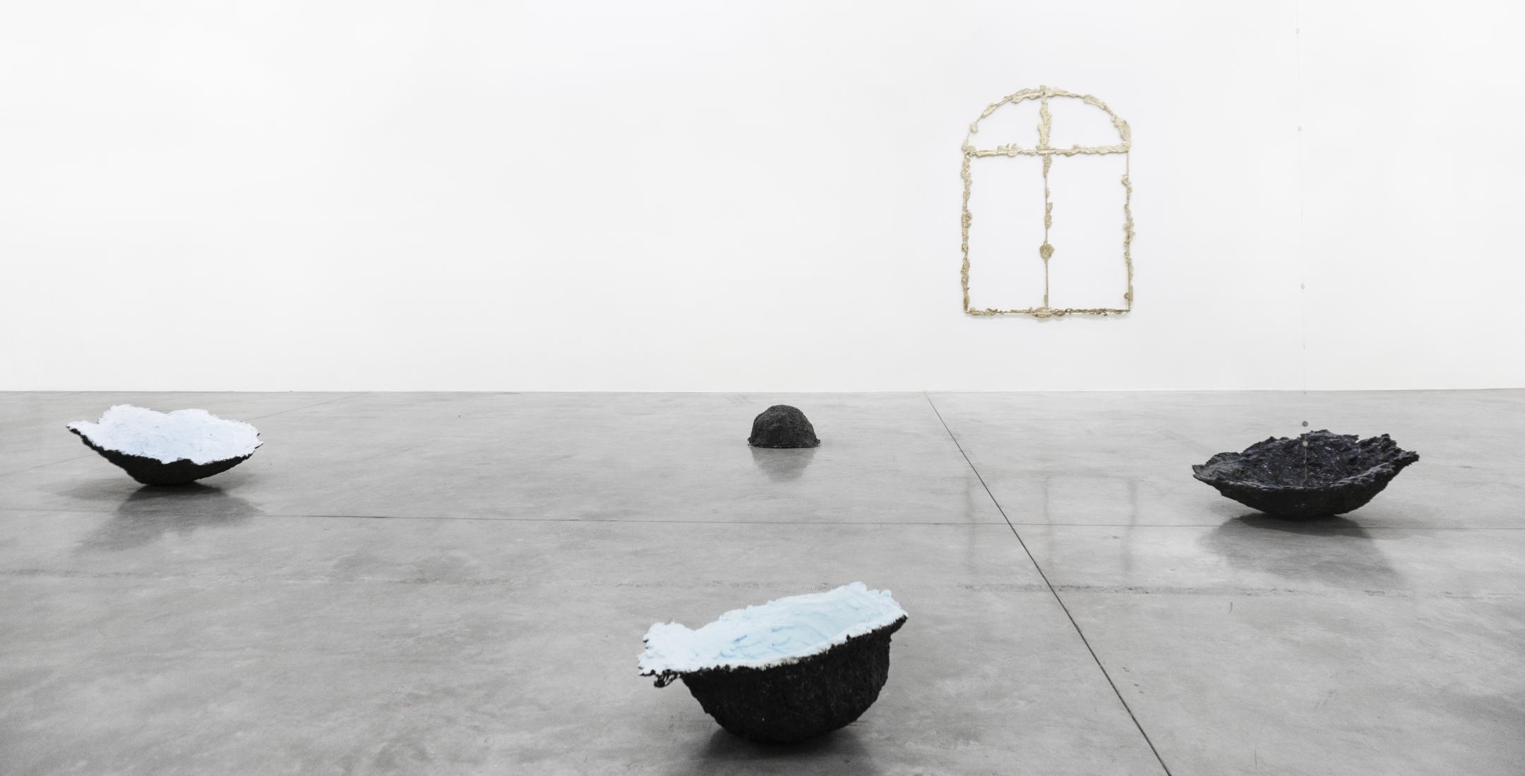 Tania Perez Cordova, Iron Rain, 2020 Marble, contact lenses with personalized prescription 11 × 11 × 10 3/5 in 28 × 28 × 27 cm, Tina Kim Gallery