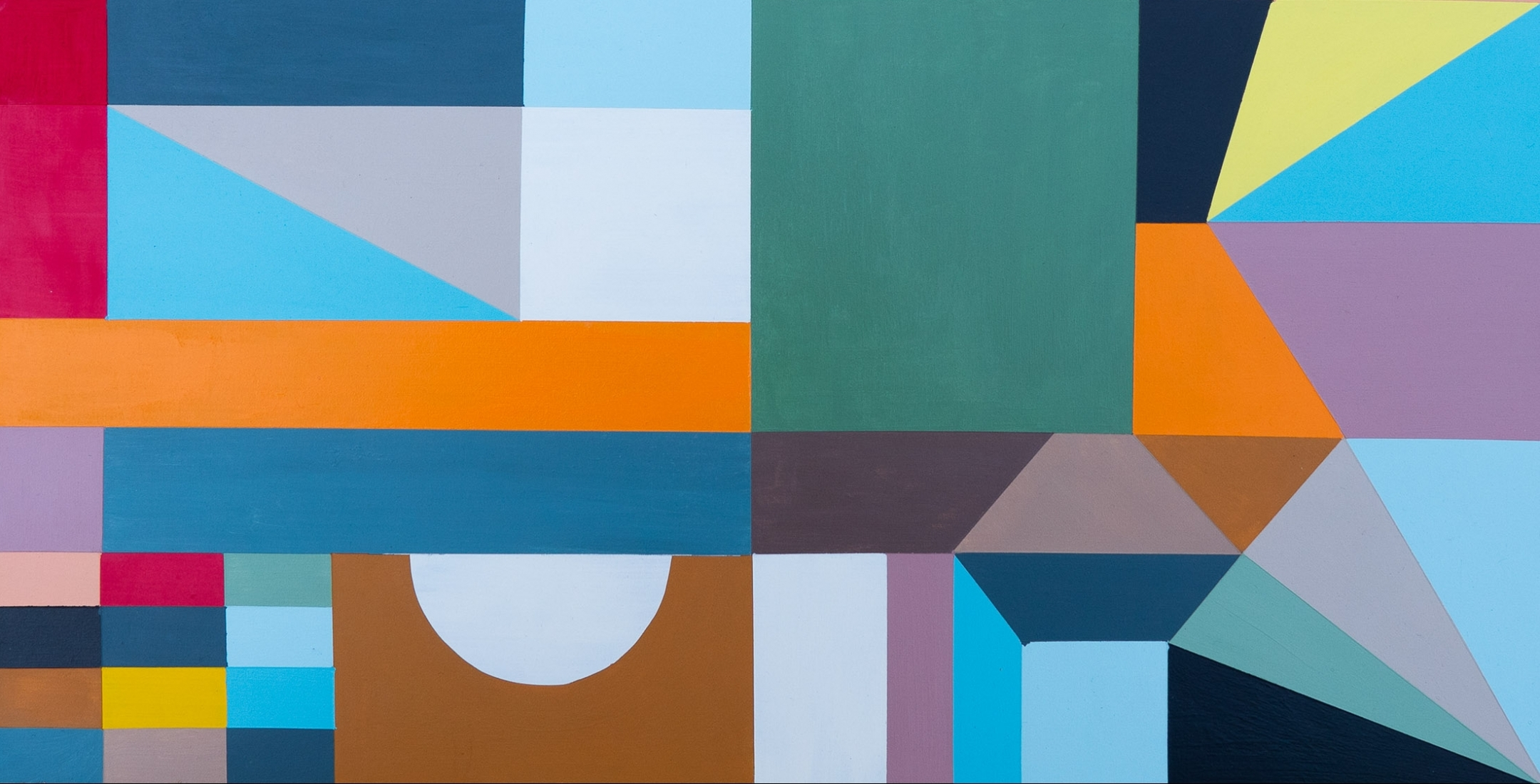 Greg Hodgson abstract geometric artwork from the exhibition Everything In Its Right Place