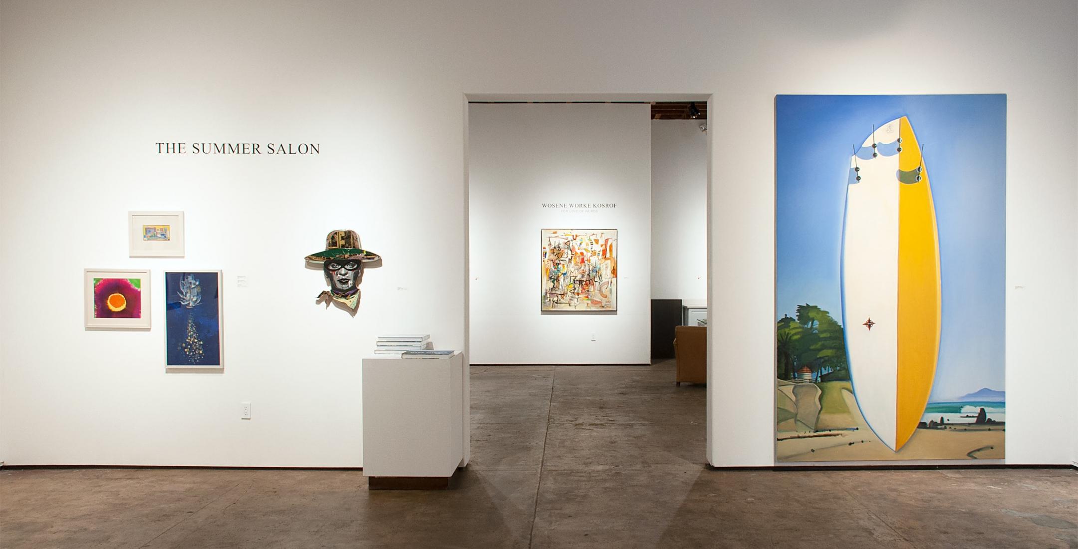 Installation photograph of The Summer Salon, 2020