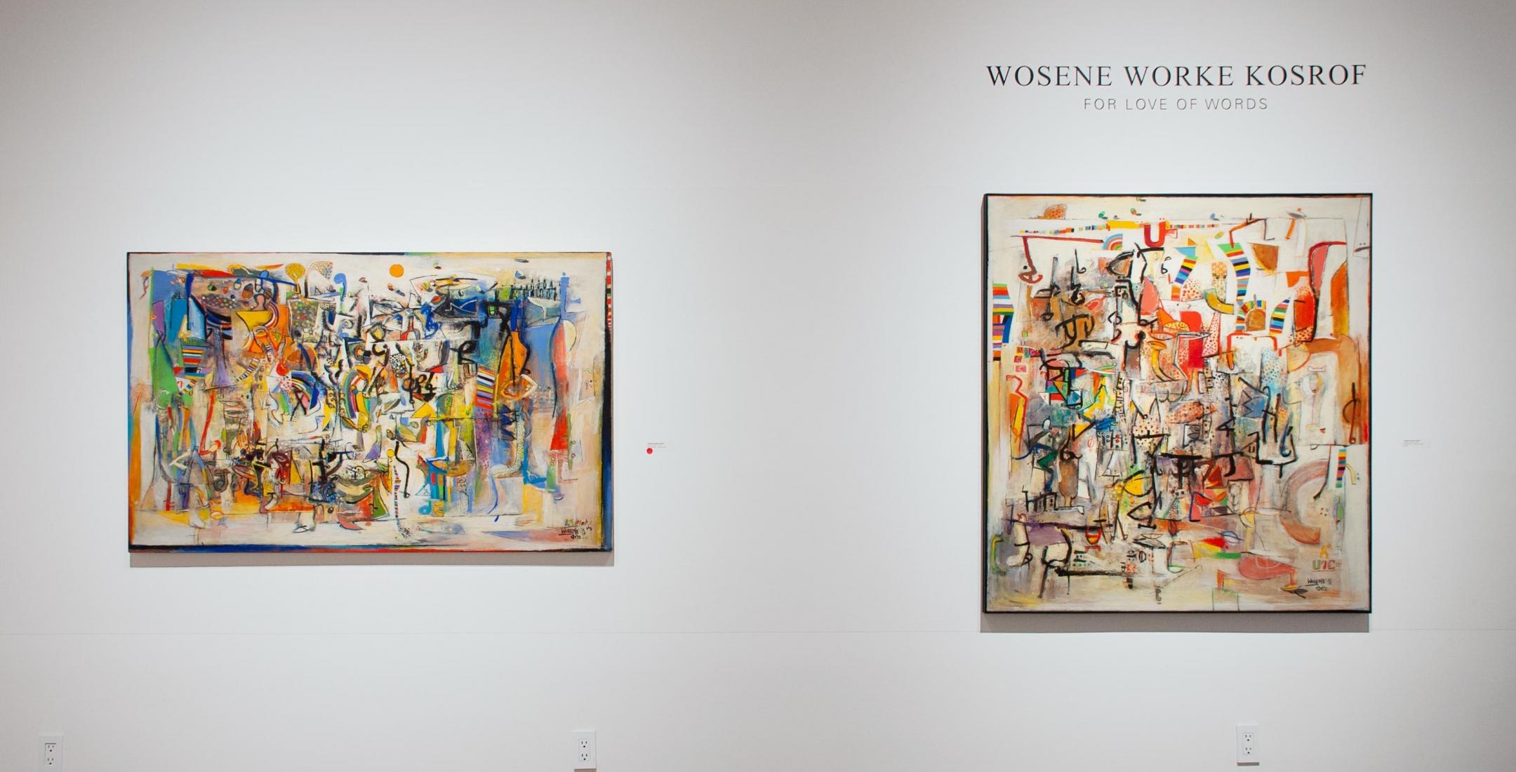 Installation photograph of WOSENE WORKE KOSROF: For Love of Words