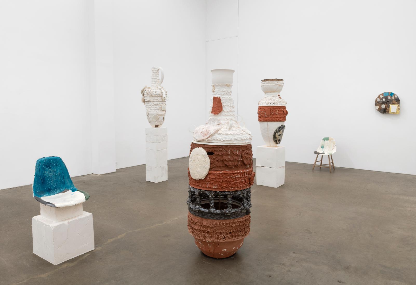 nicole cherubini pot and chair sculptures