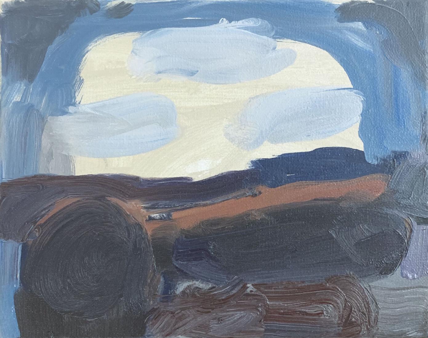"Virva Hinnemo. After Dark. 2019. Oil on Canvas. 8"" x 10"""