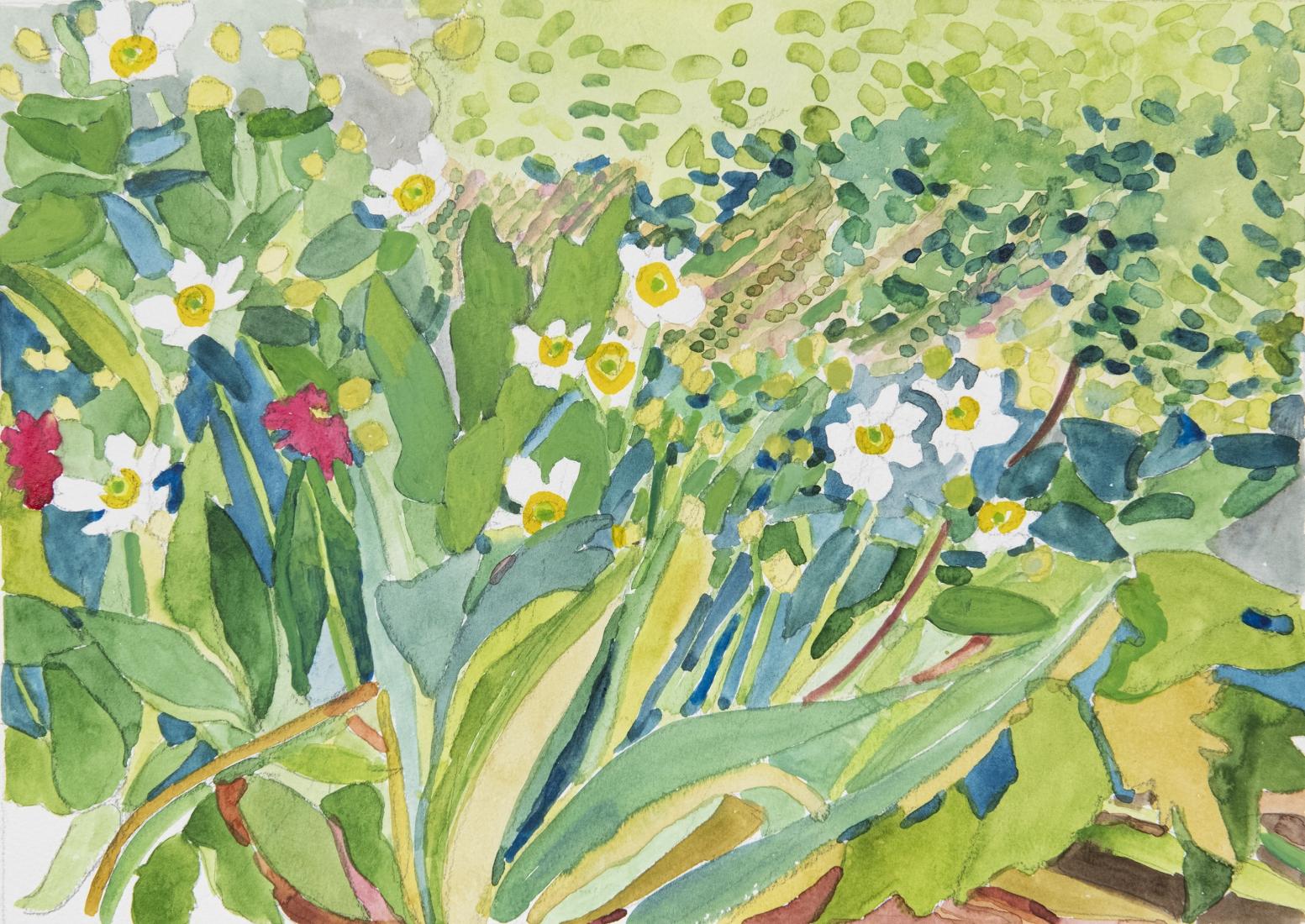 Pamela Sztybel (American, b. 1956) Flowers 7, 2020    Watercolor on paper 12 x 18 in. (30.5 x 45.7 cm)