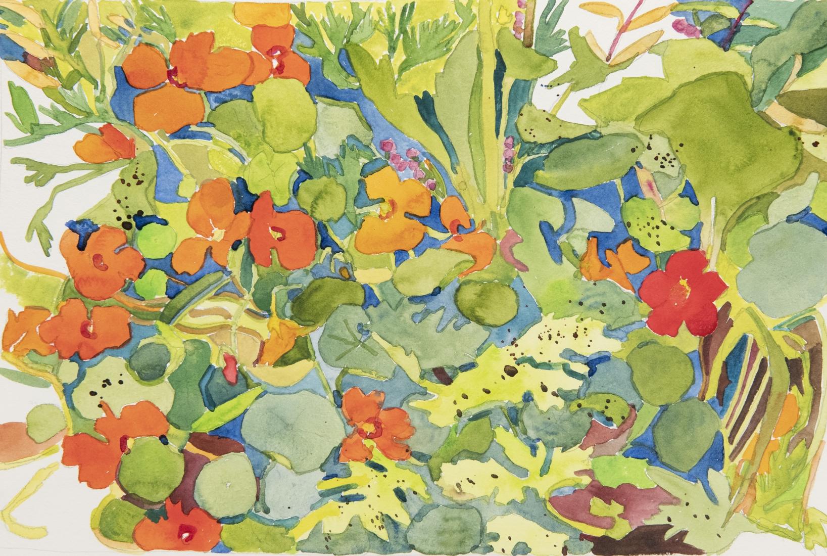 Pamela Sztybel (American, b. 1956) Flowers 8, 2020    Watercolor on paper 12 x 18 in. (30.5 x 45.7 cm)